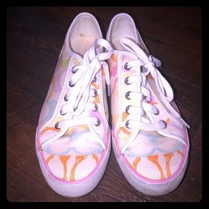 Coach color sneakers